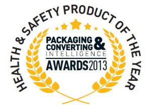 PCI Product of Year badge (white)